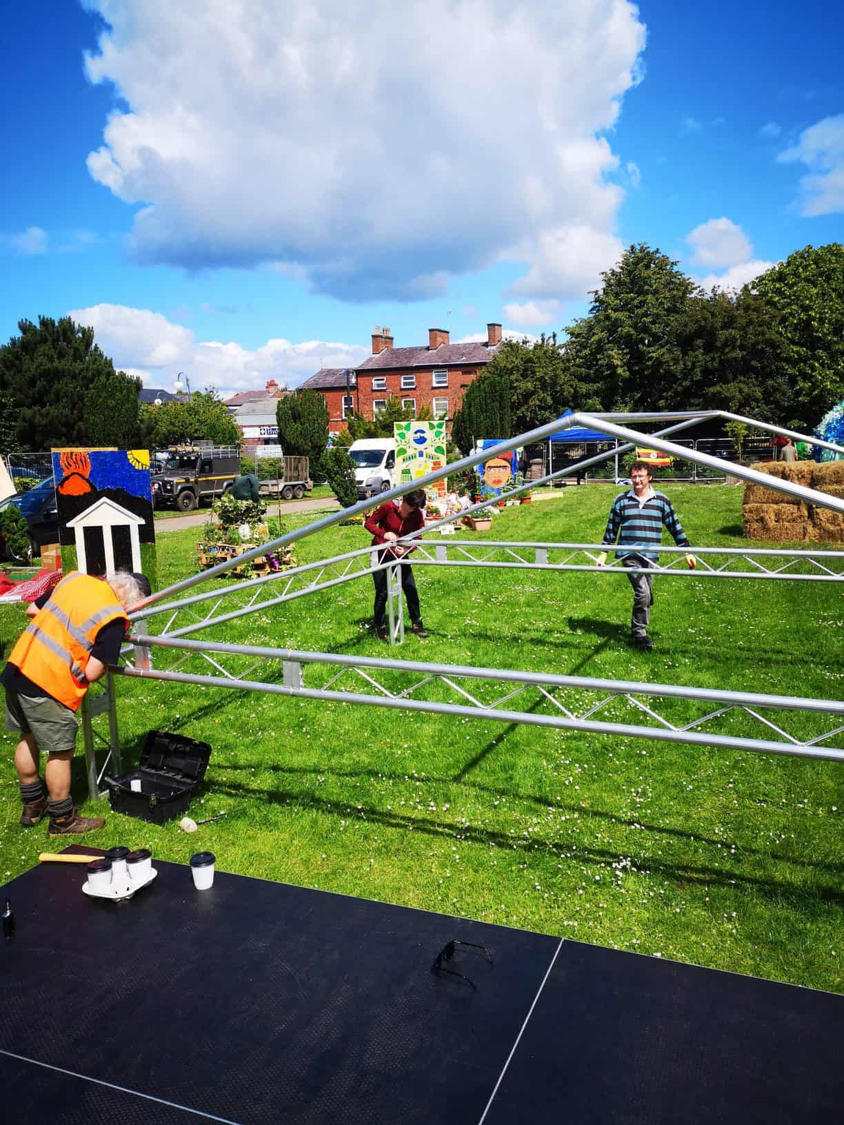 Constructing Artspace Stage