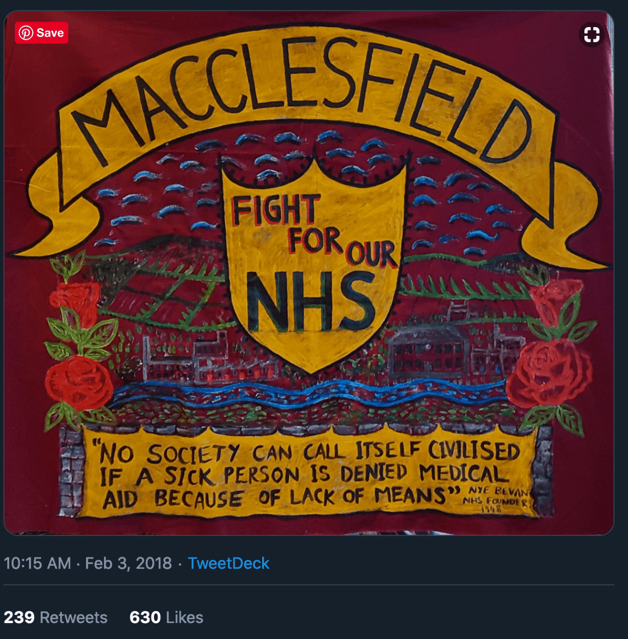 Macclesfield NHS Fight Banner