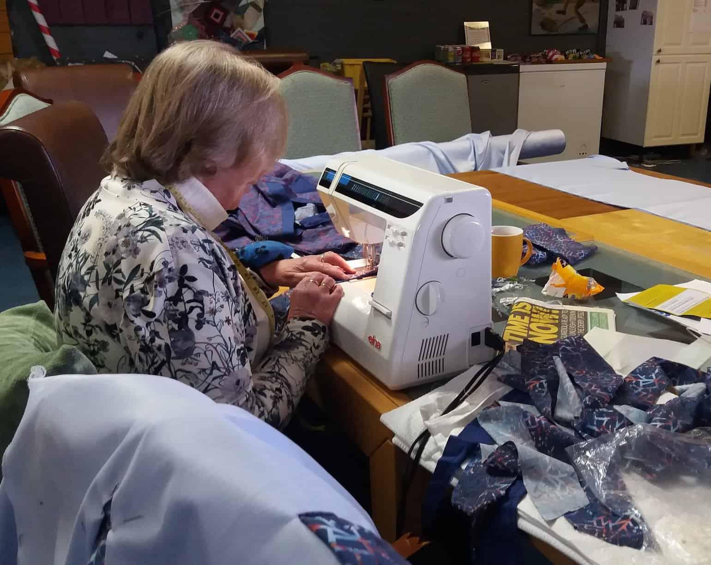 Janet making Hospital Scrubs